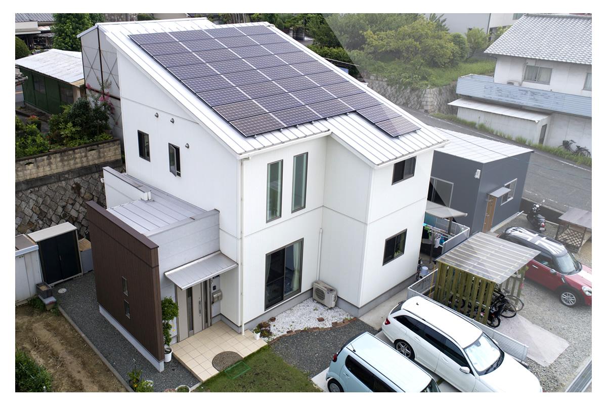 ドローン空撮イメージ - 一般住宅